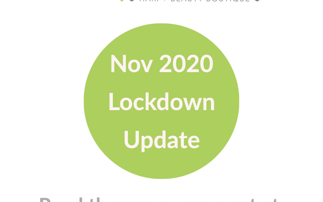 COVID 19 Lockdown update – 24th November 2020