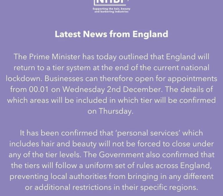 National Hair & Beauty Federation – Latest News from England